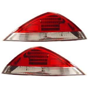 HONDA ACCORD 03 05 2 DR LED TAIL LIGHT RED/CLEAR NEW