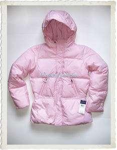 Girls L (12 14) RALPH LAUREN Pink Down Puffer Coat, NWT