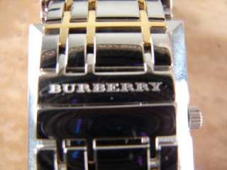495 Burberry Mens Classic Nova Check Silver 18K Gold Two Tone Watch