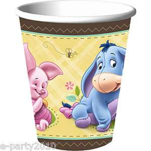 BABY Winnie the POOH Party Supplies SHOWER ~ CUPS 726528254335