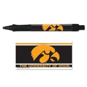 IOWA HAWKEYES OFFICIAL LOGO PEN 3 PACK: Sports & Outdoors