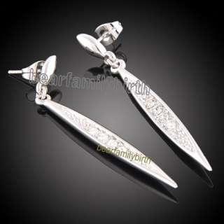 Elegant Swarovski crystal 18k Gold Gp earrings 567