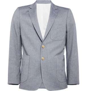 Blazers  Single breasted  Cotton Oxford Cloth Blazer