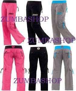 Zumba Classic Cargo Pants new xs xxl RARE STYLE  GRAY BLACK PINK