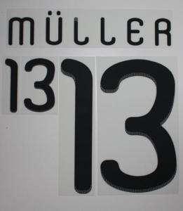 Origin. DFB Deutschland Müller Flock fürs Adidas Home Trikot WM2010
