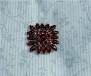 VINTAGE SIGNED LC LADY COVENTRY OR LIZ CLAIBORNE DEEP RED BROOCH PIN