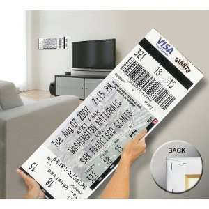 Barry Bonds 756 Home Run Mega Ticket   San Francisco Giants