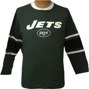 Womens Large NFL New York Jets Green 3/4 Sleeve Jersey