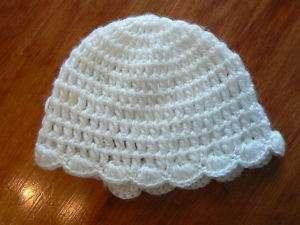 Vintage Hand Crocheted BABY BONNET Hat Gift Keepsake
