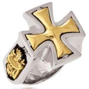 Ed Hardy Stainless Steel Maltese Cross Ring Size 11