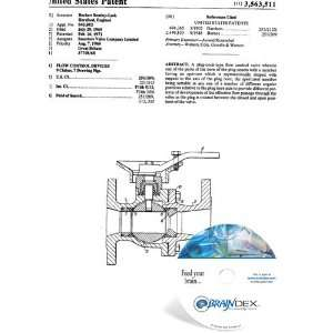 NEW Patent CD for FLOW CONTROL DEVICES Everything Else