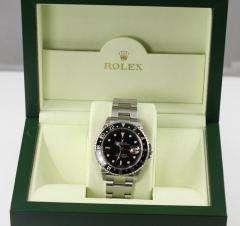 MENS ROLEX GMT MASTER II 2 STAINLESS STEEL BLACK BEZEL 16710 2006 BOX