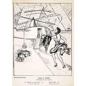 1955 Lihograph Aline Rhonie Brooks Modern Ar Airpor