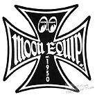 Original Moon Equip IRON CROSS Aufkleber Hot Rod 75 mm