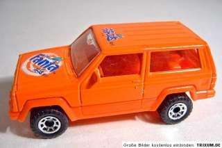 Matchbox Jeep Cherokee orange Fanta chinese promo