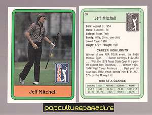 JEFF MITCHELL 1981 Donruss Golf Stars PGA TOUR TRADING CARD