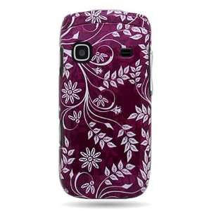 Hard Snap on Shield With PURPLE LEAF FLORAL Design Faceplate Cover