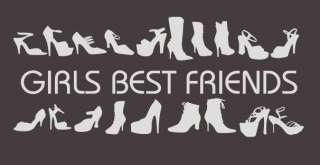 W343 Schuhe Wandtattoo Girls best Friends Flur Küche WC