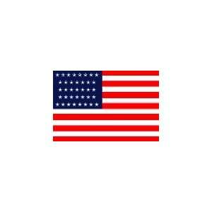 Historical 37 Star United States Flag, 4 x 6 Endura