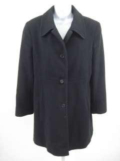 BY SEARLE Black Button Front Coat Jacket Sz L
