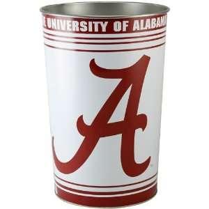 Alabama Crimson Tide White Tapered Wastebasket