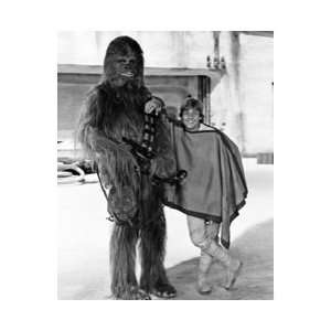 Star Wars ANH Luke and Chewbacca Black and White Print
