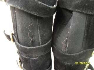 Motorrad*Flats*Vintage*80er*OVERKNEE*Leder*Stiefel*Boots*40*BOHO*Biker