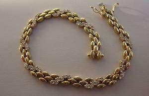 18K 750 SOLID GOLD DIAMONDS TENNIS BRACELET 14.7 GRAMS