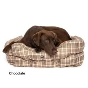 Defender Classic Plaid Square Dog Bed 24In x 28In Pet