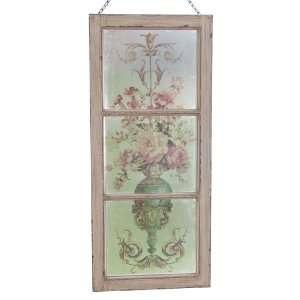 Square Nest Buttercream Floral Window Frame Wall Art
