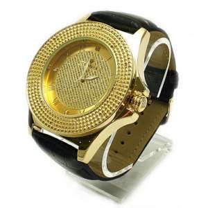 Genuine Diamond Roman Gold Ice Maxx Mens Watch RW007