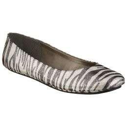 Womens sz 10 11 Mossimo Odell Zebra Animal Print Sequin Ballet