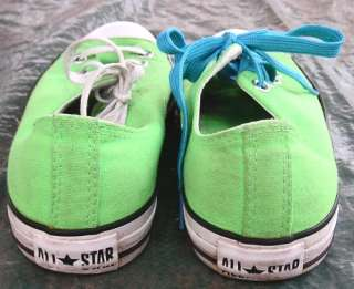 LIME GREEN CONVERSE Chuck Taylor ALL STAR SHOES Mens 7 Womens 9