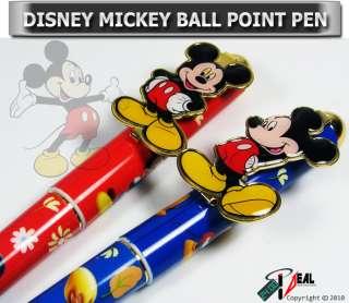2x DISNEY MICKEY MOUSE BALL POINT PEN ( B/R) BRAND NEW