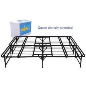 Quad Fold Metal Platform Bed Frame 612650125110