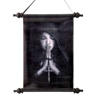 Priestess Redemption Prayer Scroll Tapestry Mystical Wall Hanging