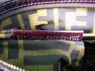 NEW AUTH. FENDI Wool Borsa Pillow XL Handbag Tote Bag