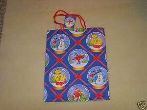 Sesame Street Characters Christmas Gift Bag NWT