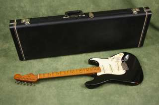 1987 Fender 1957 Reissue Stratocaster Black Strat 57 RI