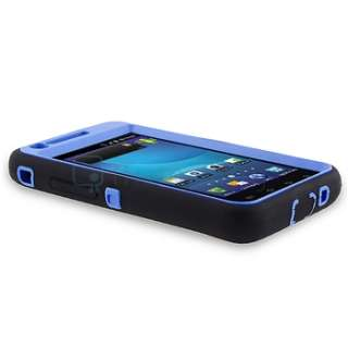 For Samsung Galaxy S2 AT&T i777 New Blue Black Double Layer Hard Cover
