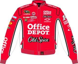 Tony Stewart 14 NASCAR Jacket Coat Red White Old Spice 2010