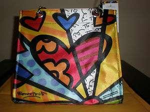 ROMERO BRITTO HEART TOTE BAG #2 331403 NEW WITH TAG