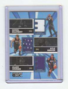 2005 06 LUXURY BOX ALLEN IVERSON 3 JERSEY #14/25, 76ERS
