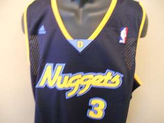 NEW ALLEN IVERSON Denver NUGGETS LARGE L SWINGMAN Adidas Jersey 8PC