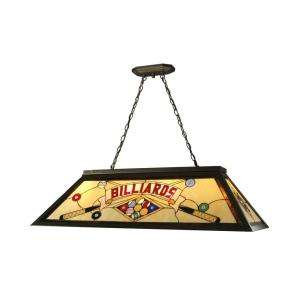 Springdale Lighting Tiffany 44 in x 62 in Billiard Pool Table Hanging