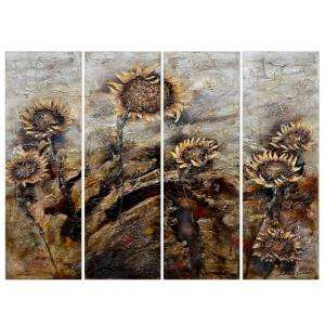 Yosemite Home Decor 78.5 by 59 Sunflowers Hand Painted Contemporary