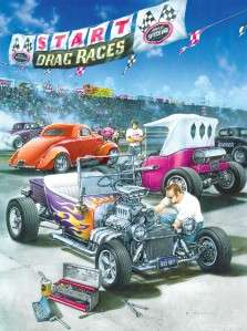 Hot Rod Racing 500 pc Jigsaw Puzzle Dan Hatala CARS 705988311055