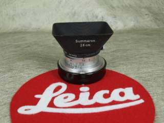 Leica Summaron 28mm f/5.6 28/5.6 /w RARE HOOD Red Scale