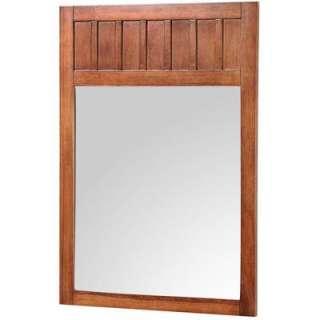 In. W X 34 In. H Framed Mirror in Nutmeg KNCM2434