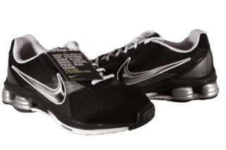 Nike Black/White/Silver Shox Fly Zipsister+ Sneakers Womens Shoes